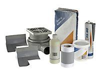 Aquadry Rectangular Shower tray kit (L)1200mm (W)1200mm (D)30mm
