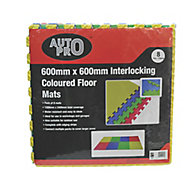Auto Pro Multicolour Foam Workshop mat (L)2400mm (W)1200mm, Pack of 8