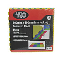 AutoPro accessories Car Care & Maintenance EVA foam Floor Mat, Pack of 8