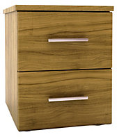 Chasewood Tiepolo effect 2 drawer chest (H)495mm (W)400mm (D)500mm