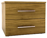 Chasewood Tiepolo effect 2 drawer wide chest (H)495mm (W)600mm (D)500mm