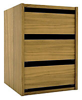 Foil-wrapped particle board Chest of drawers (H)600mm (W)350mm (D)450mm