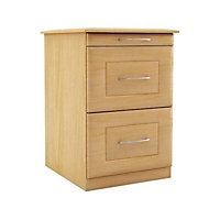 Maple effect Foil-wrapped particle board Chest of drawers (H)595mm (W)350mm (D)500mm