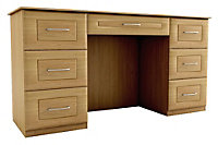 Chasewood Oak effect Dressing table (H)775mm (W)1440mm (D)500mm