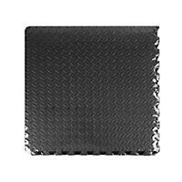 Auto Pro Interlocking EVA foam Black Floor mats, Pack of 6