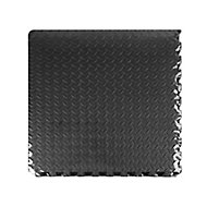 Auto Pro Black Interlocking floor tile, 2.16m² Pack