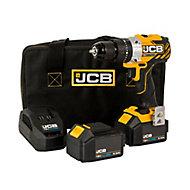 JCB 18V 3Ah Li-ion Cordless Combi drill 2 batteries JCB-18BLCD-3