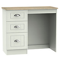 Como Grey oak effect 3 Drawer Dressing table (H)800mm (W)930mm (D)410mm