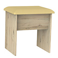 Como Grey Oak effect Dressing table stool (H)510mm (W)480mm (D)380mm