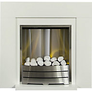 Adam Caprice Cream Electric Fire suite
