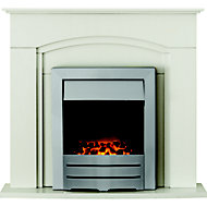 Adam Devon Cream Electric Fire Suite