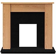 Adam Buxton Oak veneer Solid marble & wood Surround set
