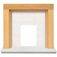 Adam Fenwick Oak veneer Solid marble & wood Surround set