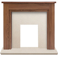 Adam Sudbury Walnut veneer Solid marble & wood Surround set