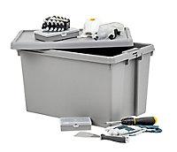 Wham Storage Heavy duty Upcycled soft grey 62L Polypropylene (PP) Large Stackable Nestable Storage box