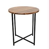 Brooklyn Metal & wood Side Table