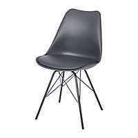 Marula Dark grey Chair (H)840mm (D)530mm