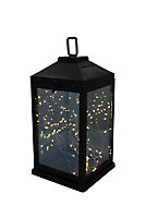 Black Solar-powered Integrated LED Outdoor Lantern