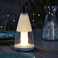 Blooma Loma Dark grey & white Battery-powered Warm white Integrated LED Outdoor Decorative light