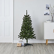 4ft Woodland Full looking green with PVC tips Artificial Christmas tree