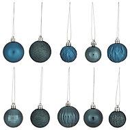 Moroccan blue Gloss & matt Glitter effect Bauble, Pack of 20