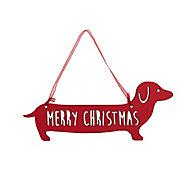 Red Matt Sausage dog Decoration