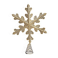 Gold Brushed effect Snowflake Tree topper