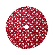 Red with white stars felt Tree skirt