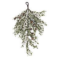 Mint green with glitter Teardrop wreath