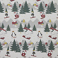 Character scene Christmas wrapping paper 4m