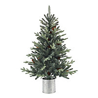 4ft Jura Mint tipped with pinecones Artificial Christmas tree