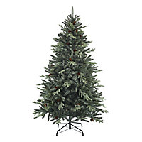 6ft Jura Mint tipped with pinecones Artificial Christmas tree