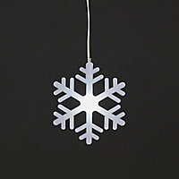 8 Ice white LED Snowflake curtain String lights