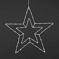 Ice white & warm white LED Star Silhouette