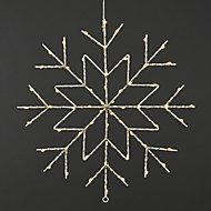 Ice white & warm white LED Snowflake Silhouette