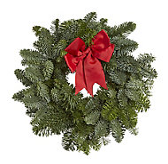 Medium Bow & pine cone Wreath