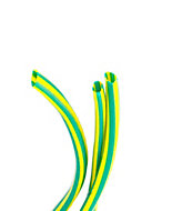 CORElectric Green & yellow 3mm Cable sleeving, 5m