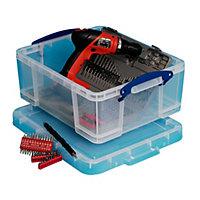 Clear 18L Plastic Storage box
