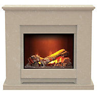 Aurora Elsdon Roman stone Electric Fire Suite
