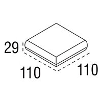Reflections Square Oak Newel cap (L)110mm (W)110mm