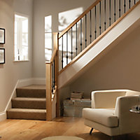 Contemporary Unfinished Oak Square Handrail (W)69mm