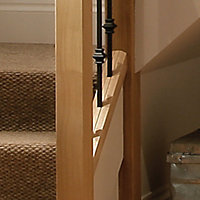 Contemporary Contemporary Unfinished Oak Square Baserail (W)60mm