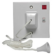 Power Pro 45A 2 way White Pull Switch