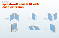 Splashwall Panel internal corner joint, (L)2420mm