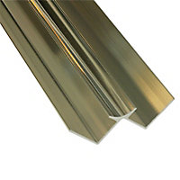 Splashwall Gold effect Panel internal corner joint, (L)2420mm