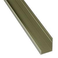 Splashwall Gold effect Panel end cap, (L)2420mm
