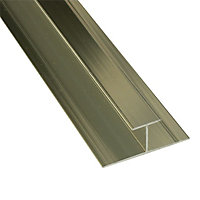 Splashwall Gold effect H-shaped Panel straight joint, (L)2420mm
