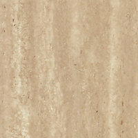 Splashwall Natural turin marble effect 2 sided Shower Panel kit (L)2420mm (W)1200mm (T)11mm