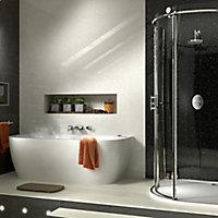 Splashwall Moon dust 3 sided Shower Panel kit (L)2420mm (W)1200mm (T)11mm