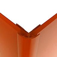 Splashwall Pumpkin Straight Panel external corner joint, (L)2440mm